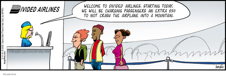 Comic Strip Darrin Bell  Rudy Park 2019-05-11 airline