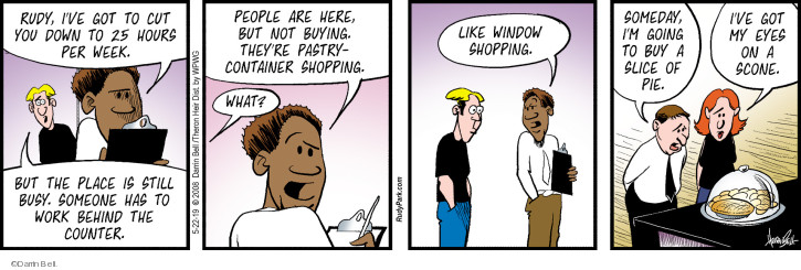 Comic Strip Darrin Bell  Rudy Park 2019-05-22 employee