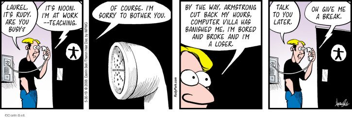 Comic Strip Darrin Bell  Rudy Park 2019-05-30 course