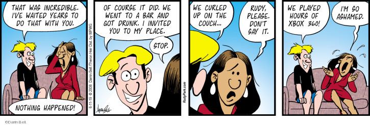Comic Strip Darrin Bell  Rudy Park 2019-06-11 course