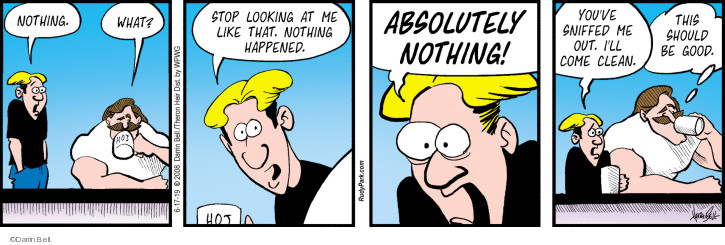 Comic Strip Darrin Bell  Rudy Park 2019-06-17 nothing