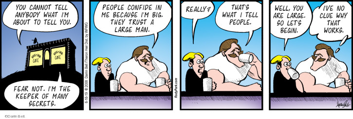 Comic Strip Darrin Bell  Rudy Park 2019-06-18 because