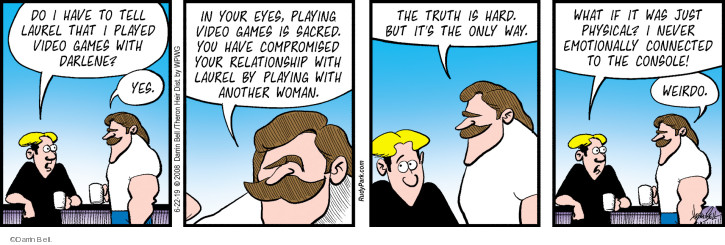 Comic Strip Darrin Bell  Rudy Park 2019-06-22 game playing