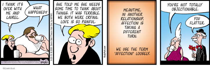 Comic Strip Darrin Bell  Rudy Park 2019-06-29 affection