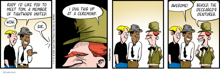 Comic Strip Darrin Bell  Rudy Park 2019-07-17 death