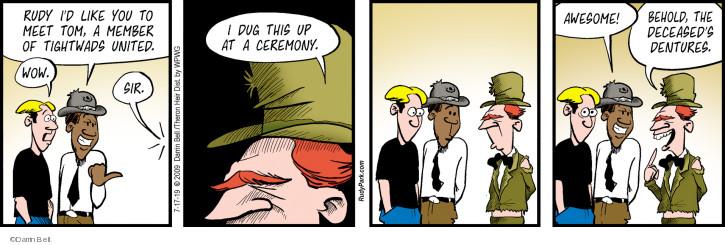 Comic Strip Darrin Bell  Rudy Park 2019-07-17 sir