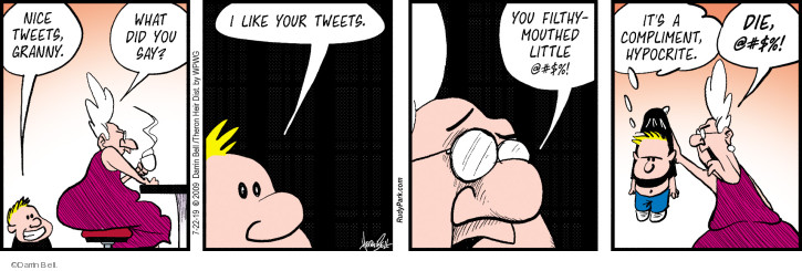 Comic Strip Darrin Bell  Rudy Park 2019-07-22 social media