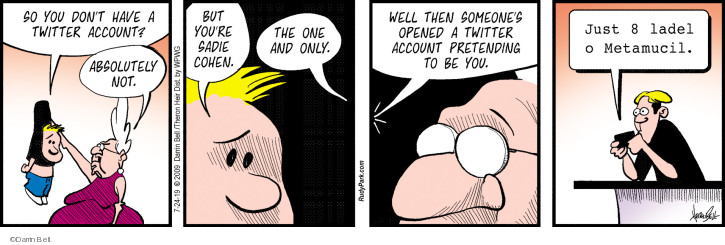 Comic Strip Darrin Bell  Rudy Park 2019-07-24 account