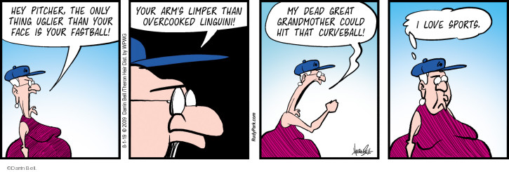 Comic Strip Darrin Bell  Rudy Park 2019-08-01 baseball