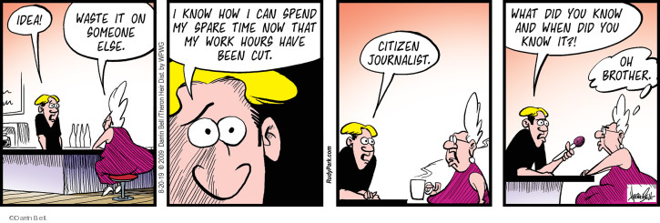 Comic Strip Darrin Bell  Rudy Park 2019-08-20 cutting
