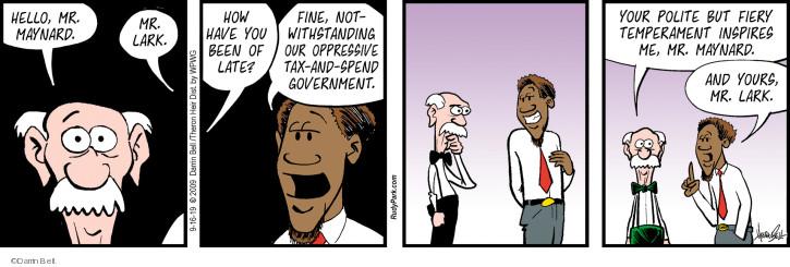 Cartoonist Darrin Bell  Rudy Park 2019-09-16 politics