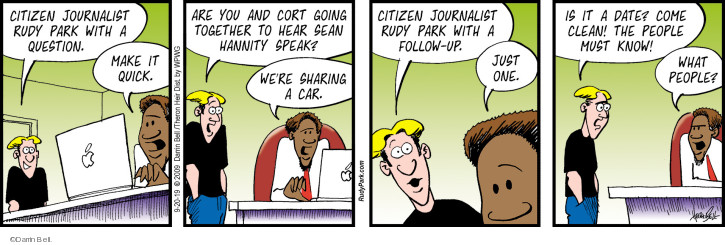 Comic Strip Darrin Bell  Rudy Park 2019-09-20 journalism