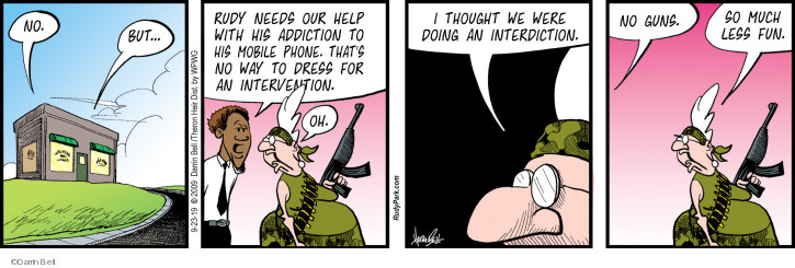 Comic Strip Darrin Bell  Rudy Park 2019-09-23 military