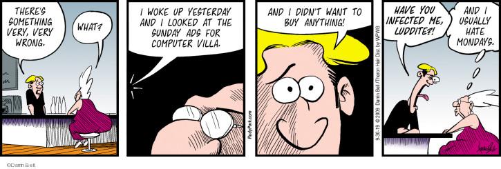 Cartoonist Darrin Bell  Rudy Park 2019-09-30 computer