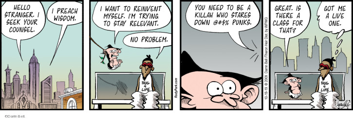 Comic Strip Darrin Bell  Rudy Park 2019-10-19 problem