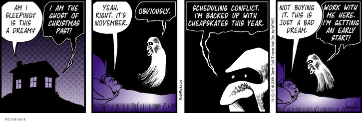 Comic Strip Darrin Bell  Rudy Park 2019-11-12 cheapskate