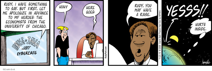 Comic Strip Darrin Bell  Rudy Park 2019-11-23 employee