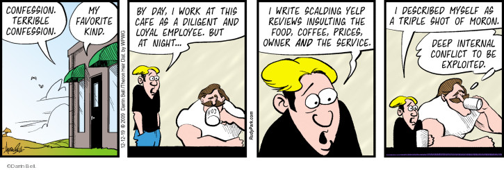 Comic Strip Darrin Bell  Rudy Park 2019-12-12 employee