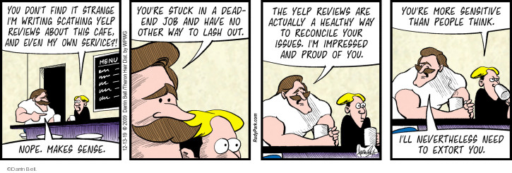 Comic Strip Darrin Bell  Rudy Park 2019-12-13 negative review