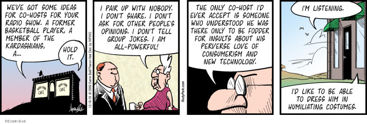 Comic Strip Darrin Bell  Rudy Park 2019-12-19 Radio Program
