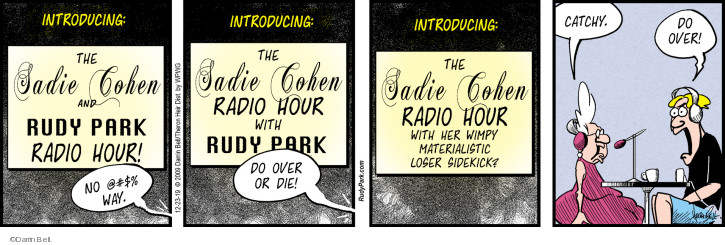 Comic Strip Darrin Bell  Rudy Park 2019-12-23 over