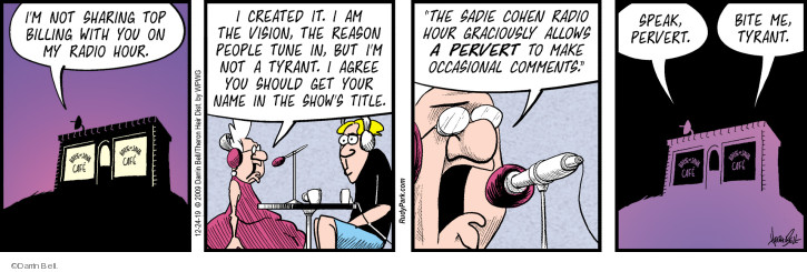 Comic Strip Darrin Bell  Rudy Park 2019-12-24 Radio Program