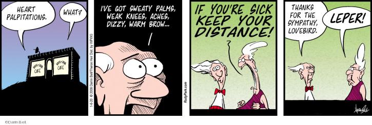 Cartoonist Darrin Bell  Rudy Park 2020-01-06 illness
