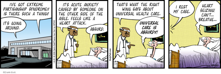 Cartoonist Darrin Bell  Rudy Park 2020-01-09 illness