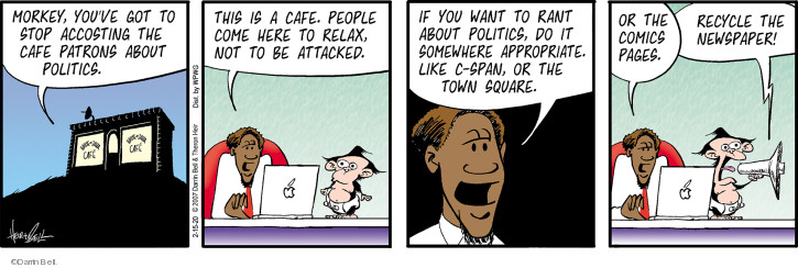 Comic Strip Darrin Bell  Rudy Park 2020-02-15 cafe