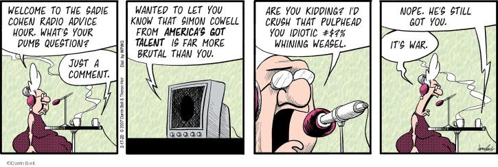 Comic Strip Darrin Bell  Rudy Park 2020-02-17 idiot