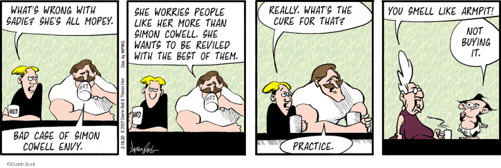 Comic Strip Darrin Bell  Rudy Park 2020-02-18 worry