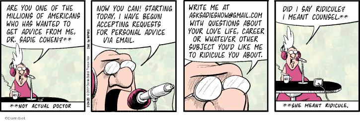 Cartoonist Darrin Bell  Rudy Park 2020-02-24 show