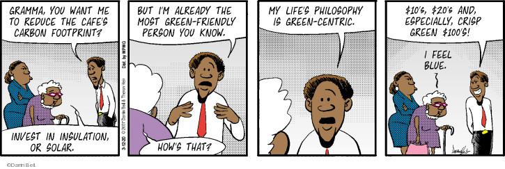Cartoonist Darrin Bell  Rudy Park 2020-03-12 greed