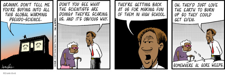 Comic Strip Darrin Bell  Rudy Park 2020-03-13 global warming science