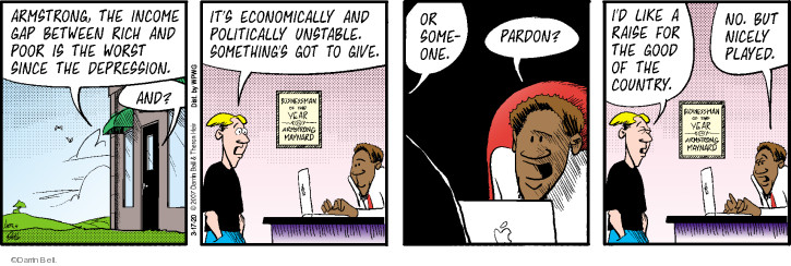 Cartoonist Darrin Bell  Rudy Park 2020-03-17 bell