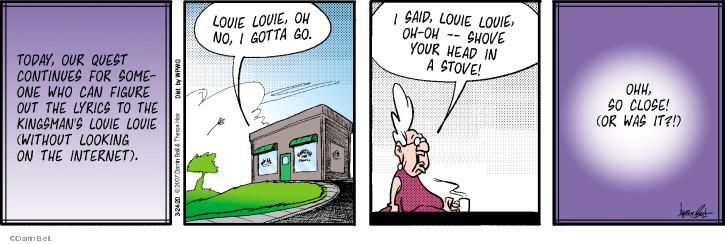 Cartoonist Darrin Bell  Rudy Park 2020-03-24 bell