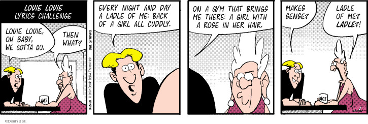 Cartoonist Darrin Bell  Rudy Park 2020-03-25 bell