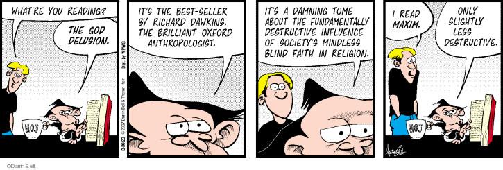 Cartoonist Darrin Bell  Rudy Park 2020-03-30 bell