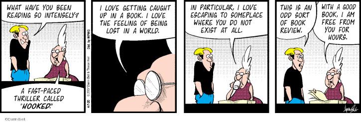 Cartoonist Darrin Bell  Rudy Park 2020-04-07 book