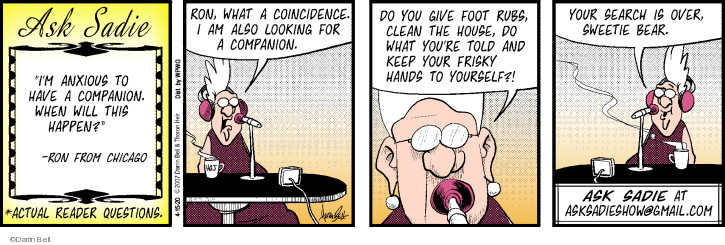 Comic Strip Darrin Bell  Rudy Park 2020-04-15 advice