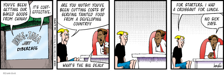 Comic Strip Darrin Bell  Rudy Park 2020-04-22 food