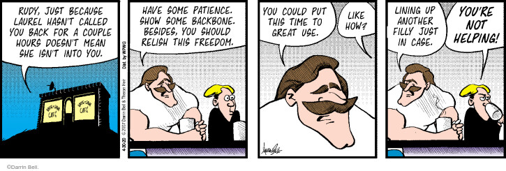 Comic Strip Darrin Bell  Rudy Park 2020-04-30 advice