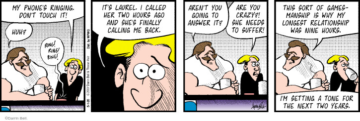 Comic Strip Darrin Bell  Rudy Park 2020-05-01 cell phone