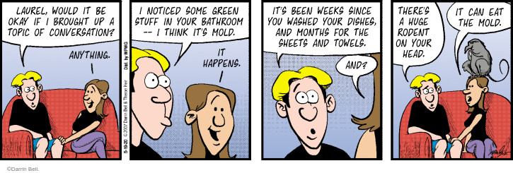 Comic Strip Darrin Bell  Rudy Park 2020-05-19 housecleaning