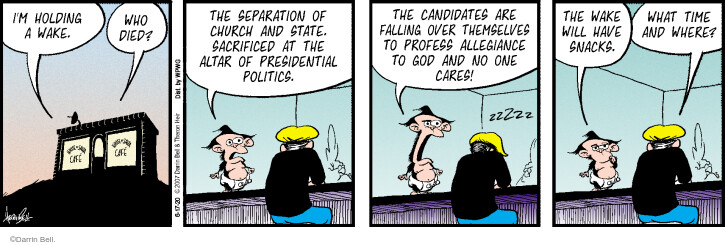 Comic Strip Darrin Bell  Rudy Park 2020-06-17 2020 election