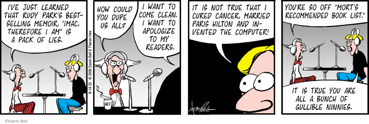 Comic Strip Darrin Bell  Rudy Park 2020-08-14 fiction