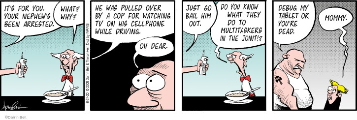 Comic Strip Darrin Bell  Rudy Park 2020-08-24 cell phone