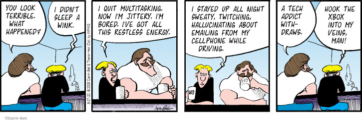Comic Strip Darrin Bell  Rudy Park 2020-08-27 cell phone