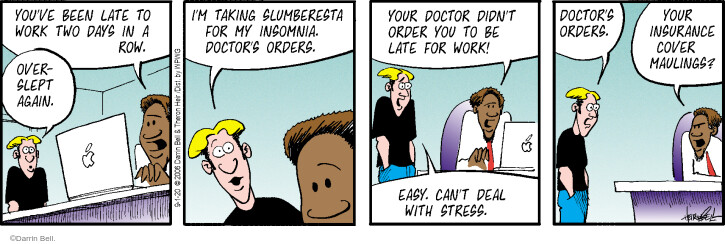Comic Strip Darrin Bell  Rudy Park 2020-09-01 employee