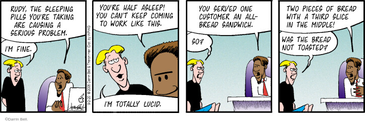 Comic Strip Darrin Bell  Rudy Park 2020-09-02 sandwich